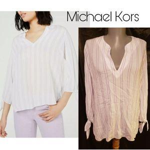 Michael Kors Double Stripe Tie. Sz Small Pt